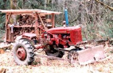 snow plow  farmall  yesterdays tractors