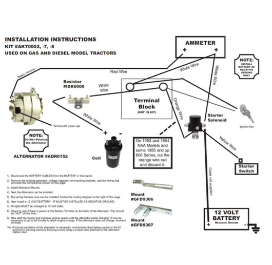 ford 4000 tractor ignition wiring diagram alternator  2000