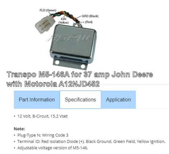 JD 2440 charging problem - Yesterday's Tractors Jd Motorola Alternator Wiring Diagram on