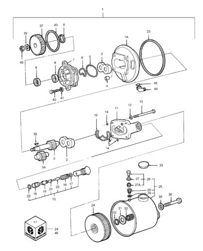 Power Steering Pump Parts Diagram