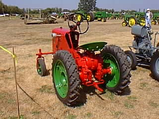 Vintage Garden Tractor And Homemade Tractor Area