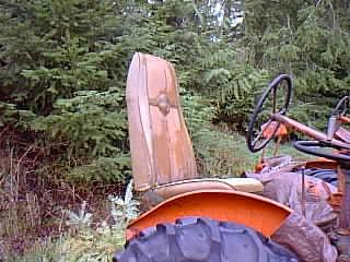 Mercury Cougar Bucket Seat on Tractor