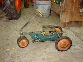 Wooden Seat on Toy Tractor