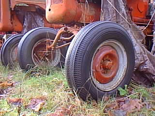 Car Tires & Wheels on Tractor