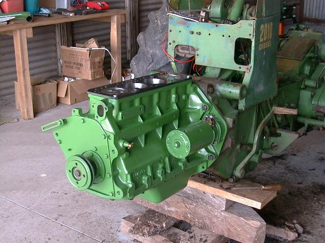 engine attached to tractor