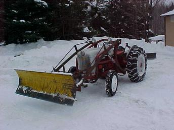 Antique Tractors 1954 Ford Naa W Snowplow Picture