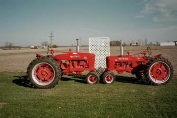 Antique Tractors - 1939 Farmall H and 1939 Farmall M Picture