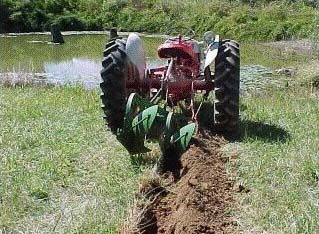 Yesterday S Tractors Trenching With A Plow