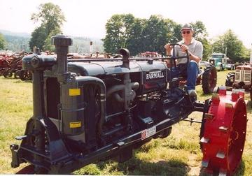 scott satterlund astride restored Farmall F series tractor