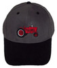 photo of With embroidered Farmall H or M style tractor.