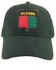 photo of The old split-shield style logo on a solid green hat.
