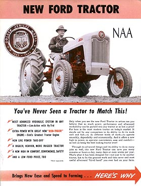Ford Ford Jubilee Tractor Naa Color Sales Brochure Literature border=