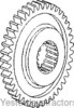 photo of 41 tooth, 18 spline. Used in 8 speed transmissions. For tractor models 135, 148, 150, 155, 158, 165, 168, 175, 180, 185, 188, 20, 240, 240P, 265, 275, 282, 30, 31, 375, 383, 390, 50H, 550, 565, 575. Replaces 1660094M1.