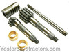 photo of Used on Massey Ferguson 230, 235, 245 tractors with Power Steering. This kit contains 1698368M91 shaft, 1698366M1 5 tooth RH sector, 1698365M1 7 tooth LH sector, 1698368M91 Nut, and 2 - 1876960M1 bushings. These are new style sectors, and will replace old style when used as a set.
