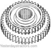 photo of Transmission Mainshaft Gear. Intermediate and high for regular transmission with serial number to 213313. 36\46 tooth, 18 spline. For the following tractors: 35, 50, 65, FE35, TO35.
