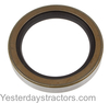 photo of This oil seal fits: [Industrial; as an inner rear axle shaft oil seal with dry brakes: 2135, 2200, 3165, MF20, MF20C, MF30 (2 used per tractor, sold individually)], as a transmission input shaft front cover oil seal: 85, 88, Super 90, [as an inner rear axle shaft oil seal with dry brakes: 135, 150, 202, 203, 204, 205, 230, 231, 235, 240, 245, 35, 50, F40, FE35, TO35 (2 used per tractor, sold individually)]; Replaces: 195678M1, 195678M2. 2.125 inches inside diameter, 2.879 inches outside diameter, 0.438 inches wide.