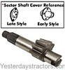 photo of Left Hand Steering Sector Shaft (Single Gear) 5 tooth. For 8N serial number 216989 and up, NAA, 600, 700, 800, 900, 2000, 4000. If your left hand does not have 5 teeth, you can use this part but must replace both right and left. Shaft cover must be late style. Replaces OEM numbers 251293 and C3NN3526A.