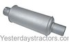photo of Vertical muffler for gas tractors, fits engines C335, and C350. Inlet inside diameter 3-1\8 inch, outlet outside diameter 3 inch, length 22 inches, diameter 6 inches, round body type. For tractors W9, WR9, 600, 650. For 600, 650, Super WD9, Super WDR9, W9, WD9, WDR9, WR9.