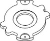 Oliver 2270 Brake Adjuster Disc, Primary