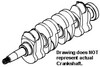 Oliver White 2-60 Crankshaft, 7 Bolt