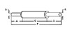 photo of Round body 4-1\4 inch shell diameter, A= 6-3\4 inch inlet length, B= 2 inch inlet inside diameter, C= 20 inch shell length, D= 7 inch outlet length, E= 2 inch outlet outside diameter, F= 34 inch overall length. For tractor models B275, B414 both with BD-144 diesel engine.