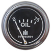 photo of For Cub, Cub Lo-Boy, Super A, AV C, Super C, 100, 130, 140, 200, 230, 240, 300, 330, 340, 350, 400. Oil Pressure Gauge, 0 to 75 psi. 2 inch IH logo on face. Does not come with bracket to mount in dash- screw in engine mount. Replaces: 364665R91, 393487R91, 528245R91, 536967R1