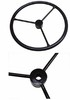 photo of Restoration quality steering wheel for Cub Cadet 70, 71, 72, 73, 100 (->serial number 400000). 13 inch outside diameter. 11\16 inch hub with 40 splines.