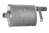 photo of Vertical muffler for diesel engine. Fits engine D282. Inlet inside diameter 2-3\8 inch, outlet outside diameter 2-1\2 inches, length 34 inches, diameter 5-1\2 inch round body. For tractor models 706, 2706. For 2706, 706.