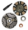 photo of This new dual 12 inch clutch kit contains: 12 inch, 17 spline, 1.75 inch hub pressure plate assembly (405300R92); 12 inch, 11 spline, 1 3\16 inch hub, cerametallic clutch disc (384395R94); pilot (524598R91) and release (365867R91) bearings, and clutch alignment tool. For tractor models: 2706, 2756, 2806, 2826, 2856, 3088, 3288, 660, 706, 756, 766, 786, 806, 826, 856, 886, 966.