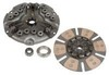 photo of Our re-manufactured clutch kit contains: a 12 inch heavy duty, 17 spline 1 3\4 inch hub, 12 spring re-manufactured pressure plate assembly; a 12 inch 11 spline, 1 3\16 inch hub, 6 pad re-manufactured clutch disc; new release and pilot bearings. There is also a $50.00 refundable core charge that will be added to your order. IF ORDERING ON-LINE, THIS ADDITIONAL CHARGE WILL BE ADDED TO YOUR ORDER AFTER YOUR RECEIPT IS PRINTED. For tractors: 706, 756, 766, 786, 806, 826, 856, 986.
