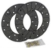 photo of Includes 2 disc linings and 18 rivets, 7 inch outside diameter, 4 inch inside diameter, .190 inches thick. For tractor models D, DC, DI, DO, DV all serial number 5600000 and up.