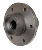 photo of Front wheel hub assembly, 6 hole with bearing cups and wear sleeve. For front wheels on tractors: 135, 165, 175, 180, M230; MF235 and MF245 except Vine and Orchard; MF255 to tractor serial number 9A324145, MF265 to tractor serial number 9A324138, MF275 to tractor serial number 9A324136, MF1080; Industrials: 20, 20C turf, 30 turf. Replaces hubs 183019M91, 194495M91 and 510771M93. Casting number 519279M1.