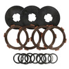 photo of This PTO Clutch Rebuild Kit contains 4 friction discs, 3 separator plates, 8 wavy spring washers, 4 shims. It is used on Cub 154 Lo-Boy and Cub 185 Lo-Boy. It replaces original part number 527245R92 except it does not contain hardware.