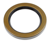 photo of This rear axle seal measures 3.881 inches outside diameter, sealing a 2.75 inch diameter shaft and is .468 inches wide. For tractor models D10, D12, D14, D15.