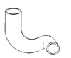 Allis Chalmers 190XT Radiator Hose Lower