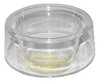 photo of Clear plastic pre-cleaner bowl, for air intake on gas model. (A) bowl outside diameter at top: 7-1\4 inch. (B) cone inside diameter at top: 3-1\2 inch. (C) bowl side height: 3 inches. (D) overall height: 4-1\8 inches. Small bowl 7-1\4 inch diameter, for 2 inch to 3 inch inlet. For A, C, CH, CR, D17, F, F2, G, K, K2, L, M.