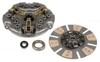 photo of This re-manufactured single stage clutch kit contains a 12 inch, 10 spline, 1 5\8 inch hub, 12 spring re-manufactured pressure plate assembly, a 12 inch 10 spline, 1 1\8 inch hub, 6 pad re-manufactured clutch disc; new release bearing and new pilot bearing. There will be an additional core charge of $27 (will be added after order is placed when ordering online) - this is refundable if you send your core to us. For 1440, 1460, 1480, 1640, 1644, 1660, 1666, 1680, 1688, 900, 914, 915