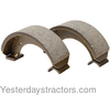 photo of Set of 2 Brake Shoes for Ford Compact tractors 1300, 1310, 1500, 1510, 1710. These shoes have an end pad thickness of 6 MM. This is not the brake pad, but the mounting pad on the end of each shoe.  They will not replace the 9 MM thick pads. Replaces SBA328100021, SBA328100020, 83921592