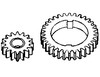 photo of Includes 2 gears only. For tractor models 1020, 1030, 1040, 1120, 1130, 1140, 1630, 1830, 2020, 2030, (2040, 2240 SN# up to 349999), 2120, 2130, 820, 830, 840, 940.