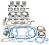 photo of Basic Engine Overhaul Kit, 201 CID 3-Cylinder Gas 4.4 inch standard bore with 4.4 inch stroke, standard pistons (C7NN6108T). Kit includes pistons, rings, pins, retainers, overhaul gasket set. For 4000 (4-1968 to 1975), 4600 (1975 to 1981).