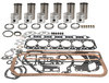 photo of Tru Power Engine Kit. 6-Cylinder Perkins Diesel, 354 CID. 3.875 inch standard bore. Head gasket replaces MF\Perkins number 36812547 and number 36812535, valve cover uses 14 bolts, 2-piece rope-type rear seal. Basic Engine Kit, less bearings. Contains sleeves and sleeves seals, pistons and rings, pins and retainers, pin bushings, complete gasket set, crankshaft seals. For MF1100 series.