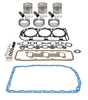 photo of 158 CID 3 cylinder gas 4.2 inch standard bore. Basic in-frame kit with standard pistons, rings, valve grind gasket kit, oil pan gasket. For tractor models 2000, 3000.