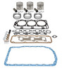 photo of Basic in-frame kit with .040 inch oversize pistons. For 201 CID 3-cylinder Diesel. Kit includes pistons, rings, valve grind gasket kit, oil pan gasket. For 4000 (1965-5\1969).