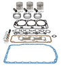photo of Basic In-Frame Kit with Standard Pistons (E0NN6108AA). For 201 CID 3-Cylinder Diesel 4.4 inch standard bore. Kit includes, pistons, rings, valve grind gasket kit, oil pan gasket. For 4000 (6\1969-1975), 4600 (1975-1981).