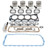 photo of 256 CID 4 cylinder diesel 4.4 inch standard bore. Basic in-frame kit with .020 inch oversize pistons, rings, valve grind gasket kit, oil pan gasket. For 5000 (4\1968-1975), 5600 10\1980-1981), 5700 10\1980-1981), 6600 (1975-9\1980), 6700 (1975-9\1980).