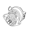 photo of For tractor models 340, 340A, 340B, 445, 445A, 450, 540. 22 GPM Hydraulic Pump.
