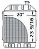 photo of For 7910, 8210 all 1982 and up. Radiator. Core dimensions: 20.0 inches wide, 23.5625 inches high, 5 rows of tubes, 8 fins per inch.