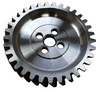 photo of For tractor models 2000, 4000, 600, 601, 700, 701, 800, 801, 900, 901, NAA, Jubilee. There are 33 teeth and (4) 5\16 inch bolt holes on this drive gear. Bolts on rear of camshaft with (4) 5\16 inch diameter bolts. NOTE: Early tractors used 1\4 inch bolt holes. Measure before ordering. Also fits New Holland L778 Skid Steer (July 1976 thru July 1980) with 5\16 inch diameter mounting bolts. Fits 134, 172 and 192 CID 4-cylinder gas, LP and diesel engines. Also replaces 500010. This is NOT a Camshaft Timing Gear (See part number EAF6256M ).