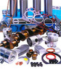 photo of For Perkins A4-203 Regular (Indirect) Injection, this comprehensive overhaul kit includes Flat Top Pistons, Pins, Pin Bushings, Chrome Sleeves (0.040 inch deep flange), Overhaul Gasket Set, Crankshaft Seals, Thrust Washers, New Crankshaft, and Main and Rod Bearings. This engine was used in Massey Ferguson 65 Tractor and 356 industrial up to engine serial number 2820092