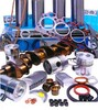 photo of Comprehensive Kit AD3-152 3 Cylinder DIESEL, DIRECT injection, identify by: inclined injectors, bowl top pistons 3.6 inch bore. Rope type rear seal. Up to engine number 152UA391045D. Including New Crankshaft. Kit includes pistons, wrist pin bushings, piston rings, liners, con rod bearings, con rod lock nuts (where fitted), top and bottom gasket sets, main bearings, thrust washers, front and rear seals AND A NEW CRANKSHAFT. FOR MODELS MF135, MF150, MF235.